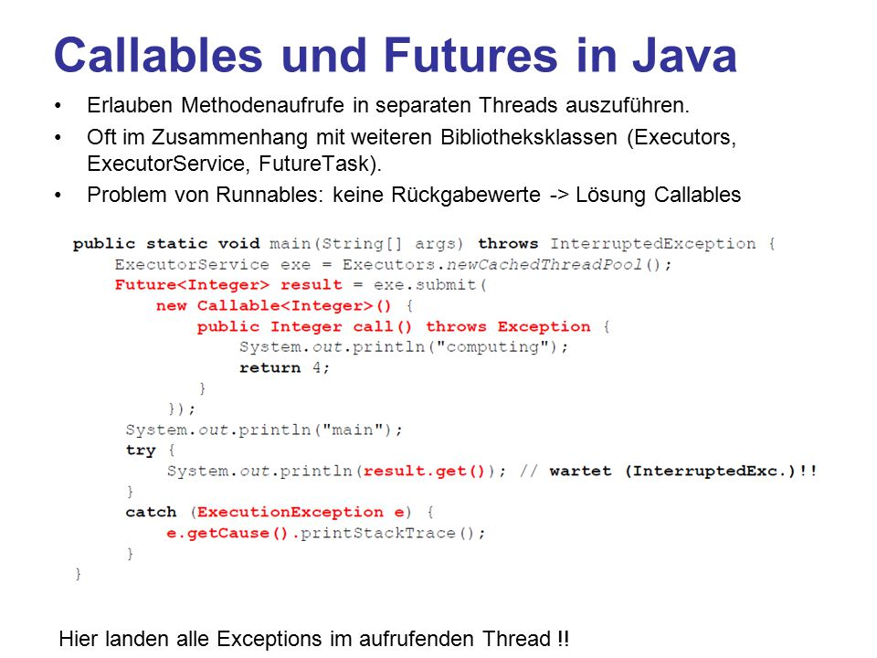 Callables und Futures in Java