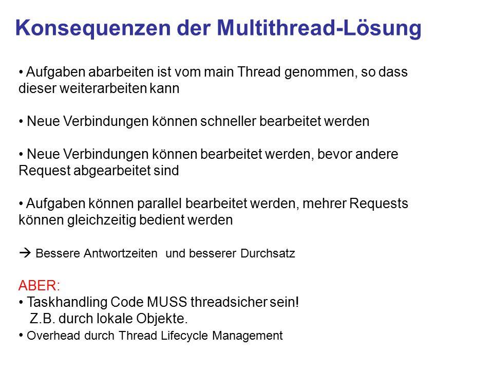 Konsequenzen der Multithread-Lösung