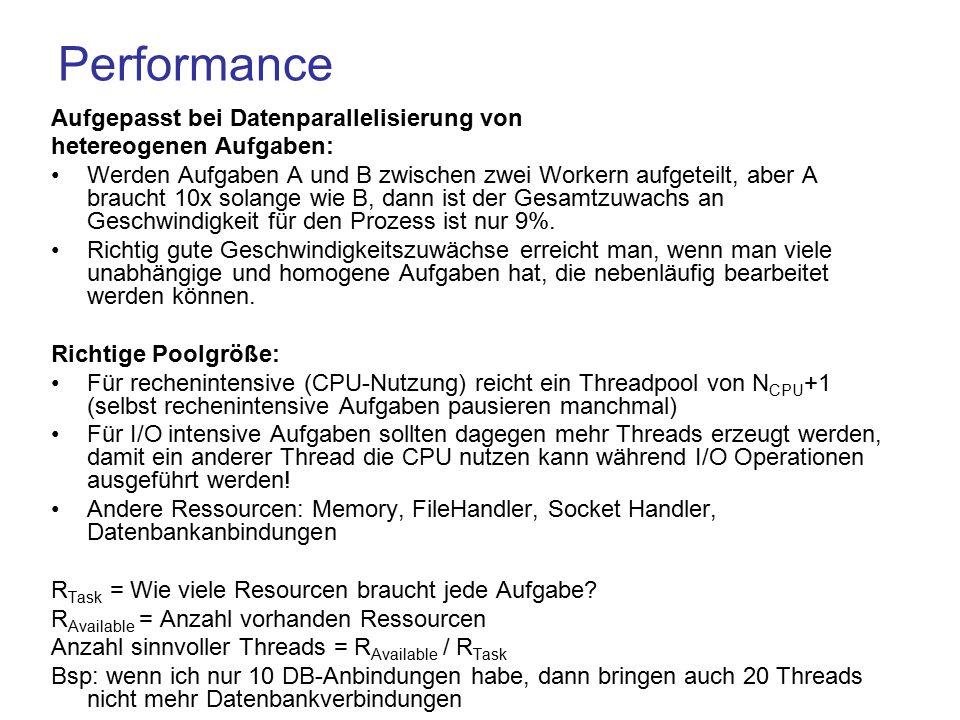 Performance Aufgepasst bei Datenparallelisierung von
