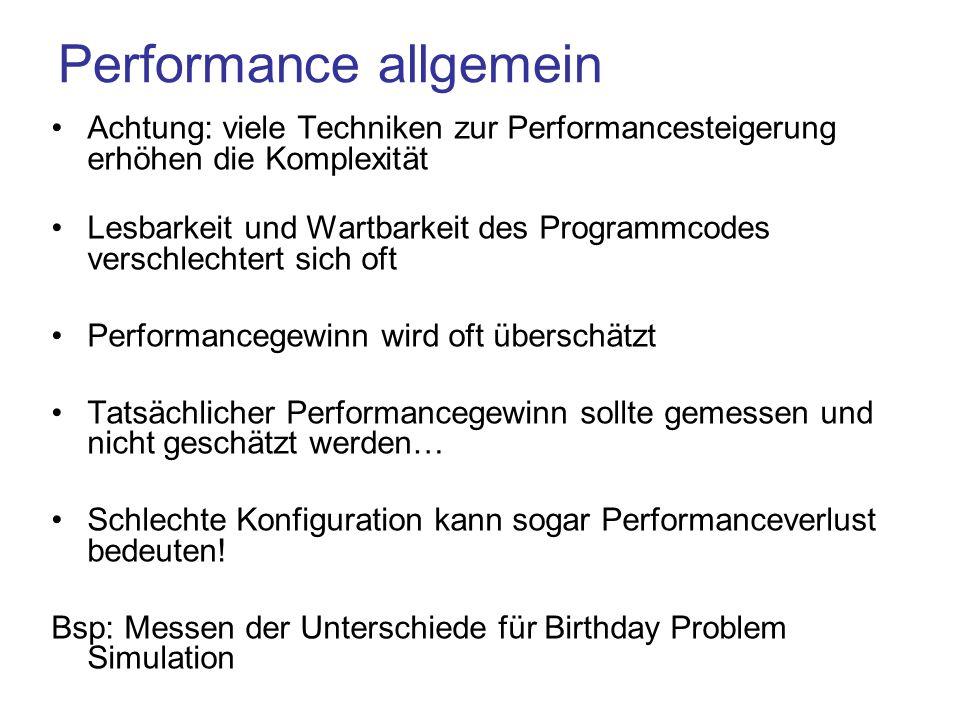 Performance allgemein