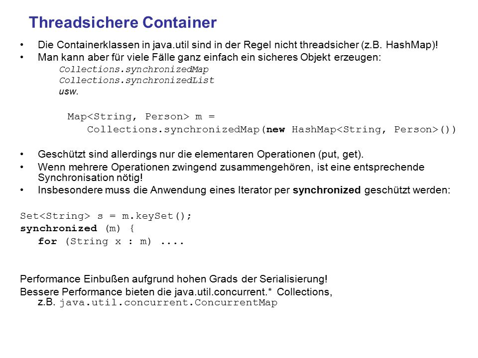 Threadsichere Container