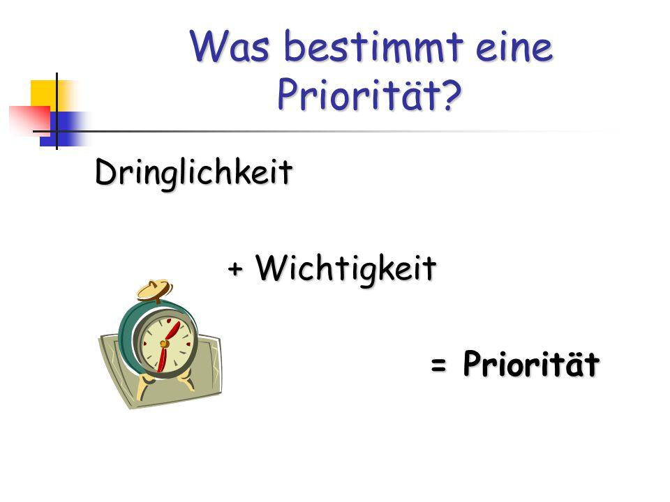 Was bestimmt eine Priorität