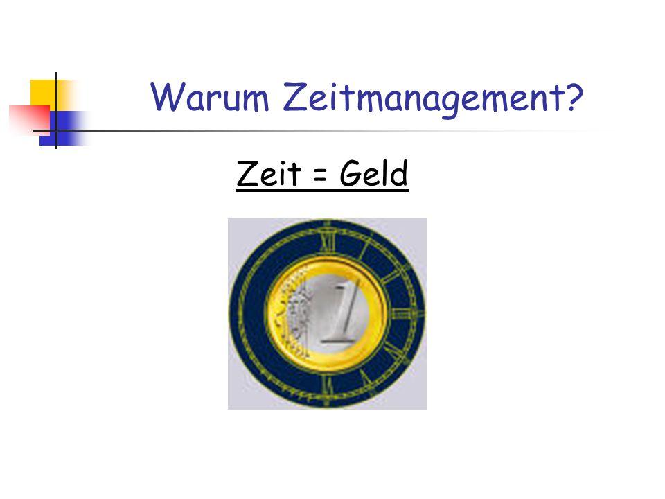 Warum Zeitmanagement Zeit = Geld