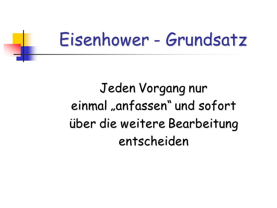 Eisenhower - Grundsatz