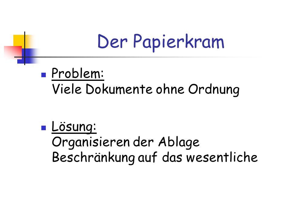 Der Papierkram Problem: Viele Dokumente ohne Ordnung