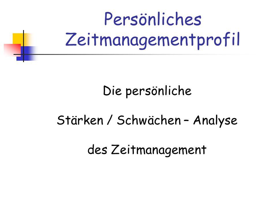 Persönliches Zeitmanagementprofil
