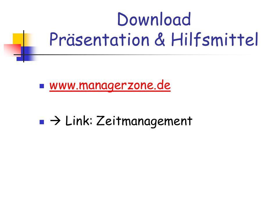 Download Präsentation & Hilfsmittel