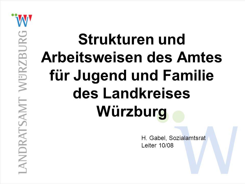 Strukturen und Arbeitsweisen des Amtes für Jugend und Familie des Landkreises Würzburg
