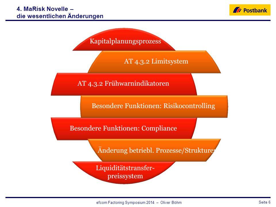 4. MaRisk Novelle – die wesentlichen Änderungen