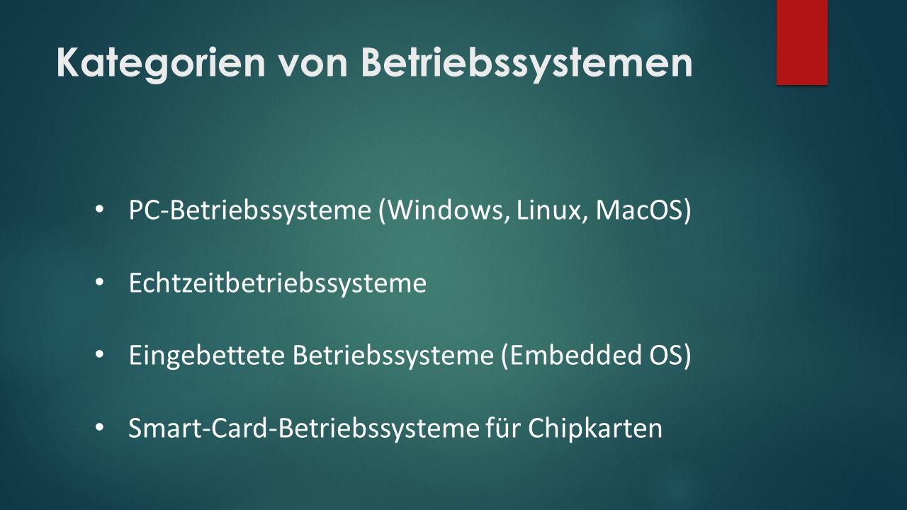 Kategorien von Betriebssystemen