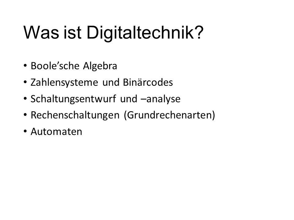 Was ist Digitaltechnik