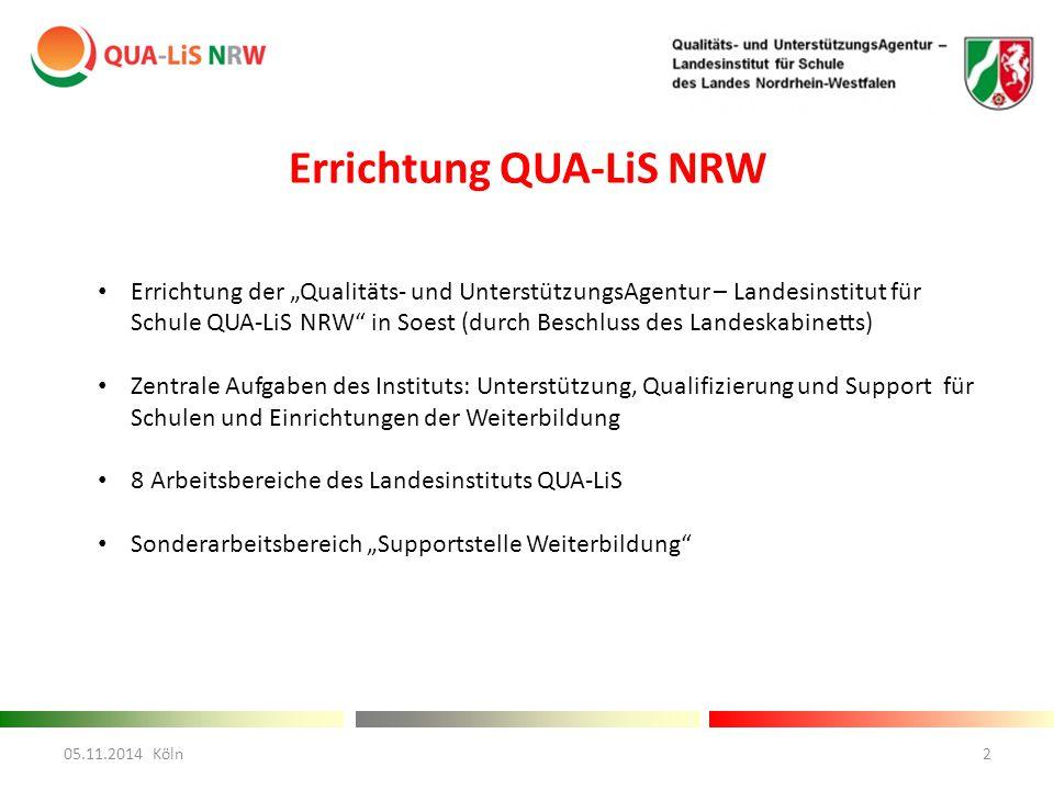 Errichtung QUA-LiS NRW