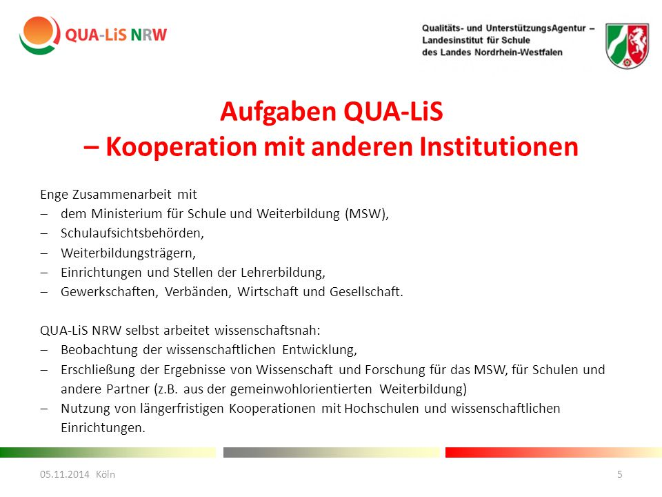 – Kooperation mit anderen Institutionen