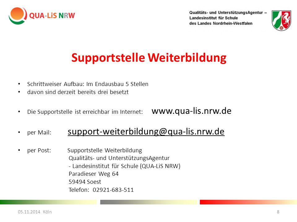 Supportstelle Weiterbildung