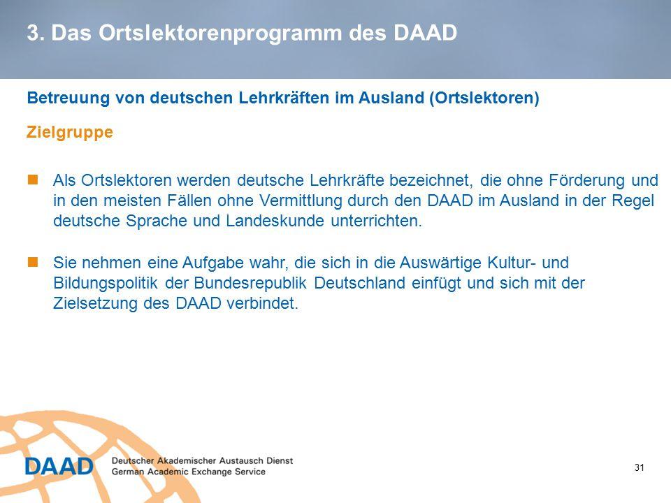 3. Das Ortslektorenprogramm des DAAD