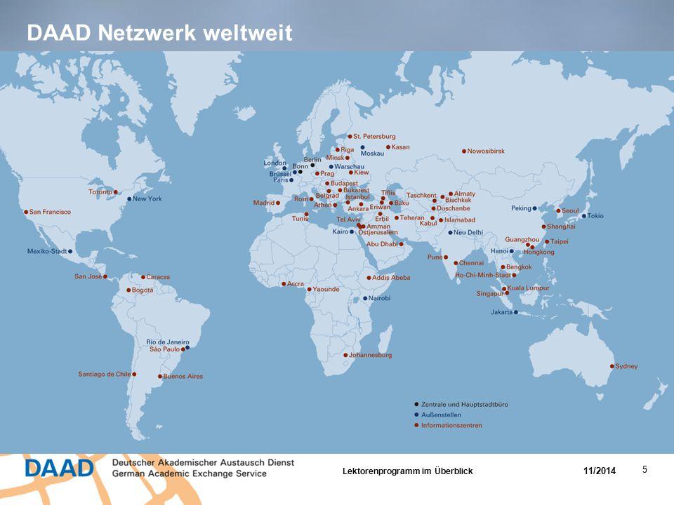 DAAD Netzwerk weltweit