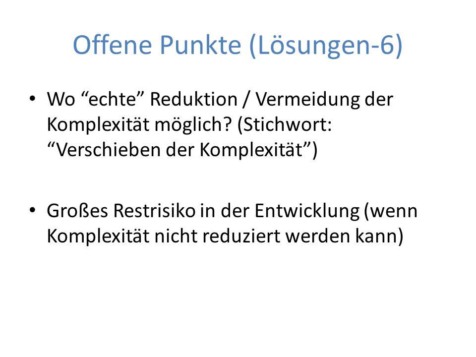 Offene Punkte (Lösungen-6)