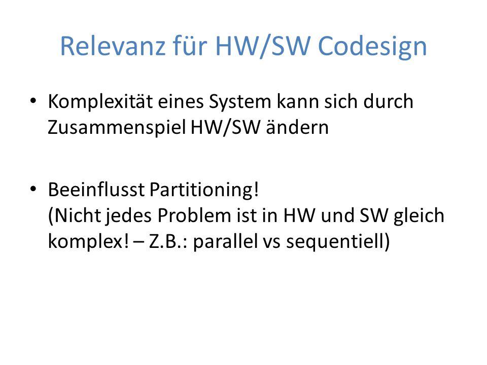 Relevanz für HW/SW Codesign