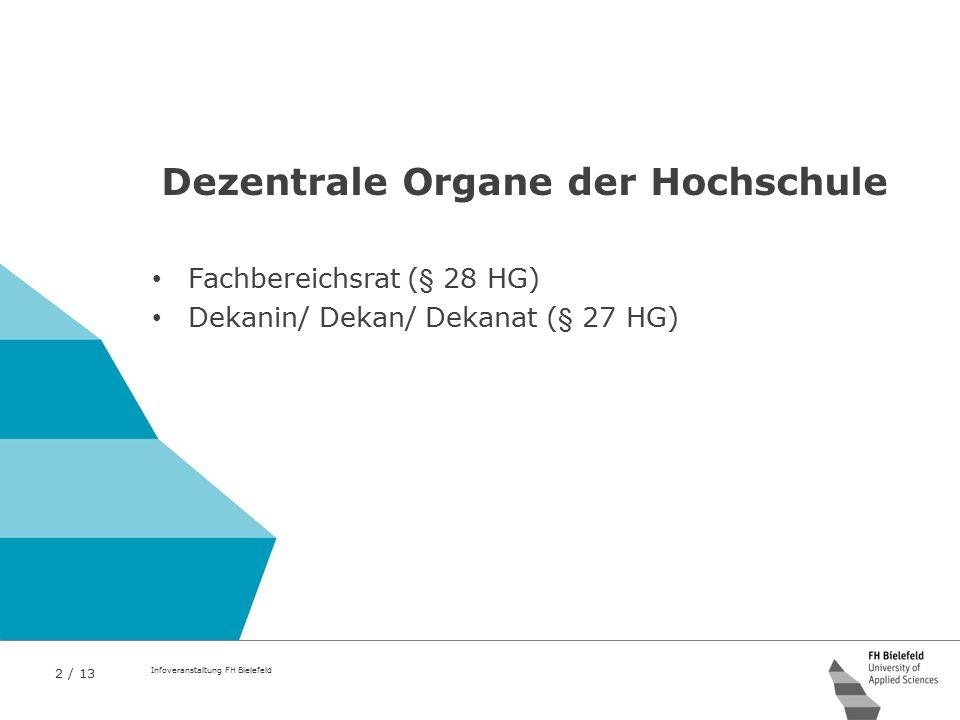Dezentrale Organe der Hochschule