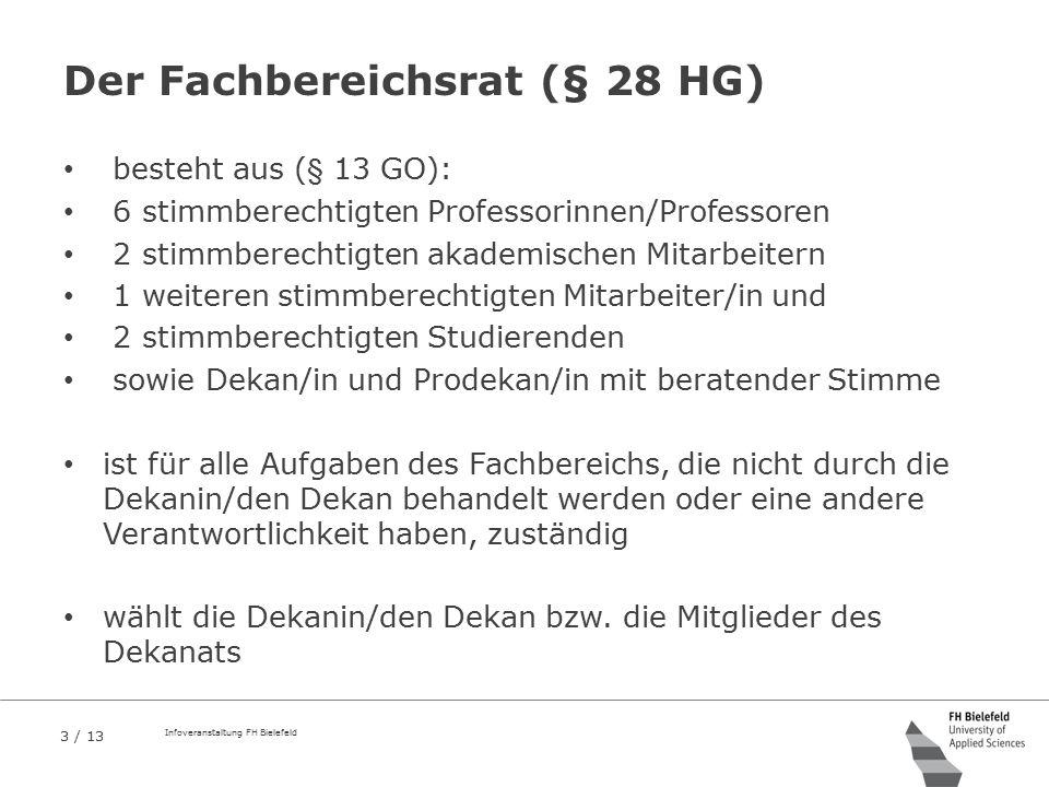Der Fachbereichsrat (§ 28 HG)