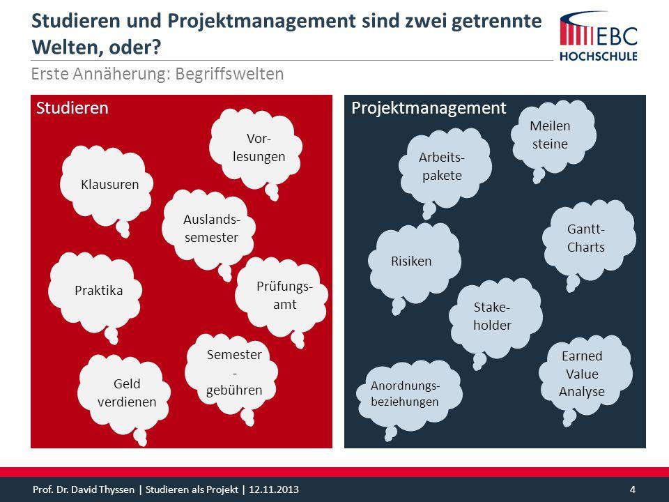 Studieren und Projektmanagement sind zwei getrennte Welten, oder