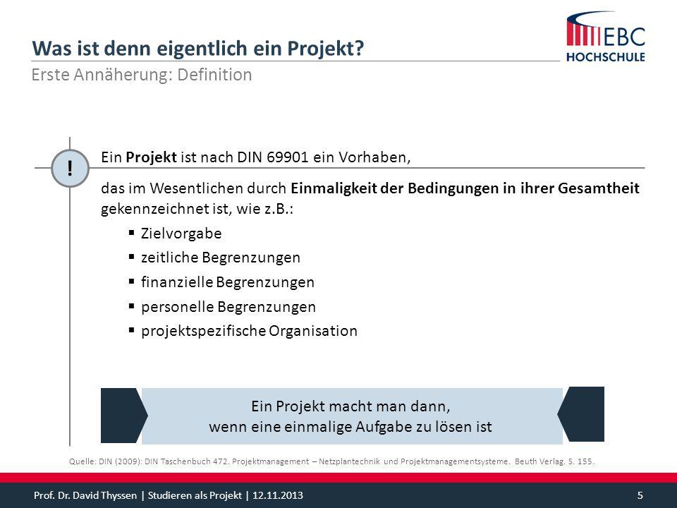 Was ist denn eigentlich ein Projekt