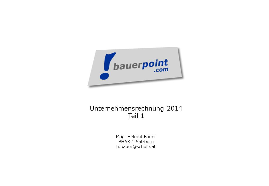 Unternehmensrechnung 2014