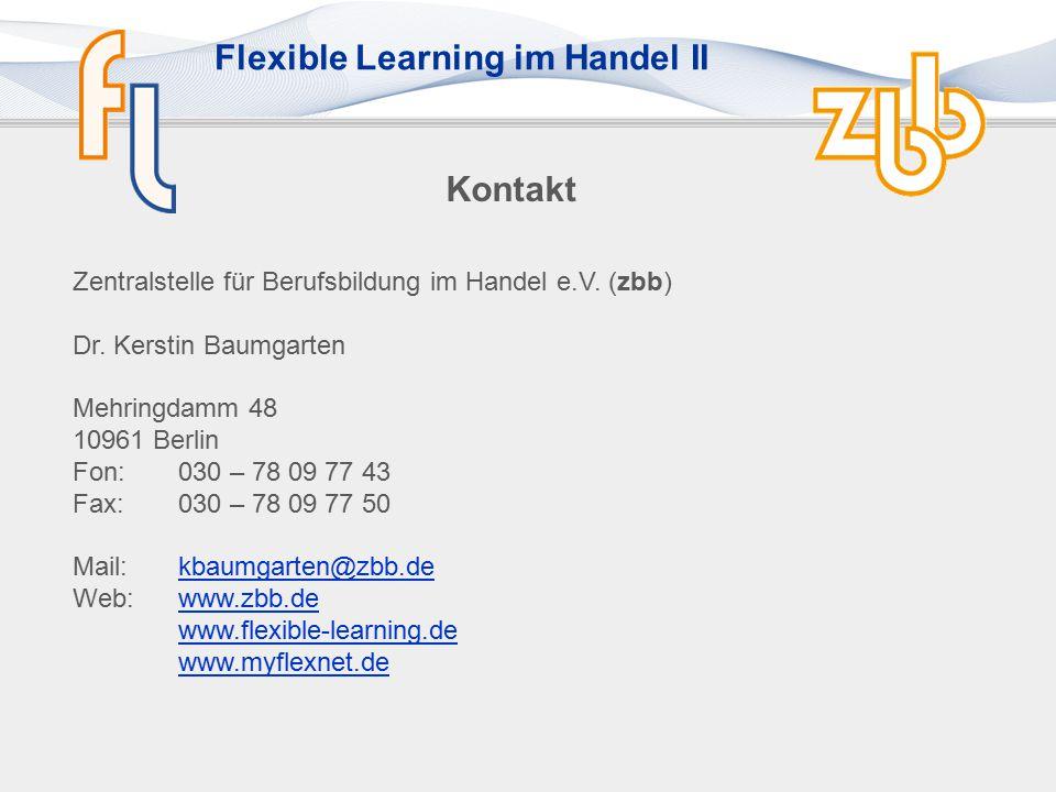 Kontakt Zentralstelle für Berufsbildung im Handel e.V. (zbb)
