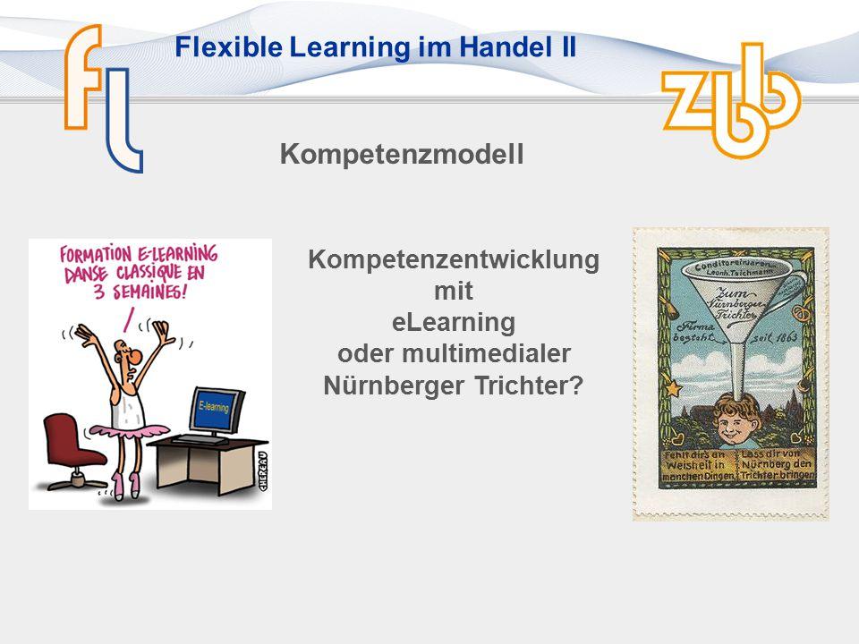 Kompetenzmodell Kompetenzentwicklung mit eLearning oder multimedialer Nürnberger Trichter