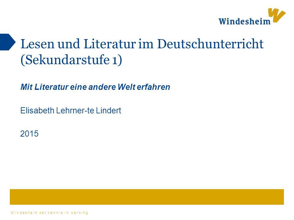 Lesen und Literatur im Deutschunterricht (Sekundarstufe 1)