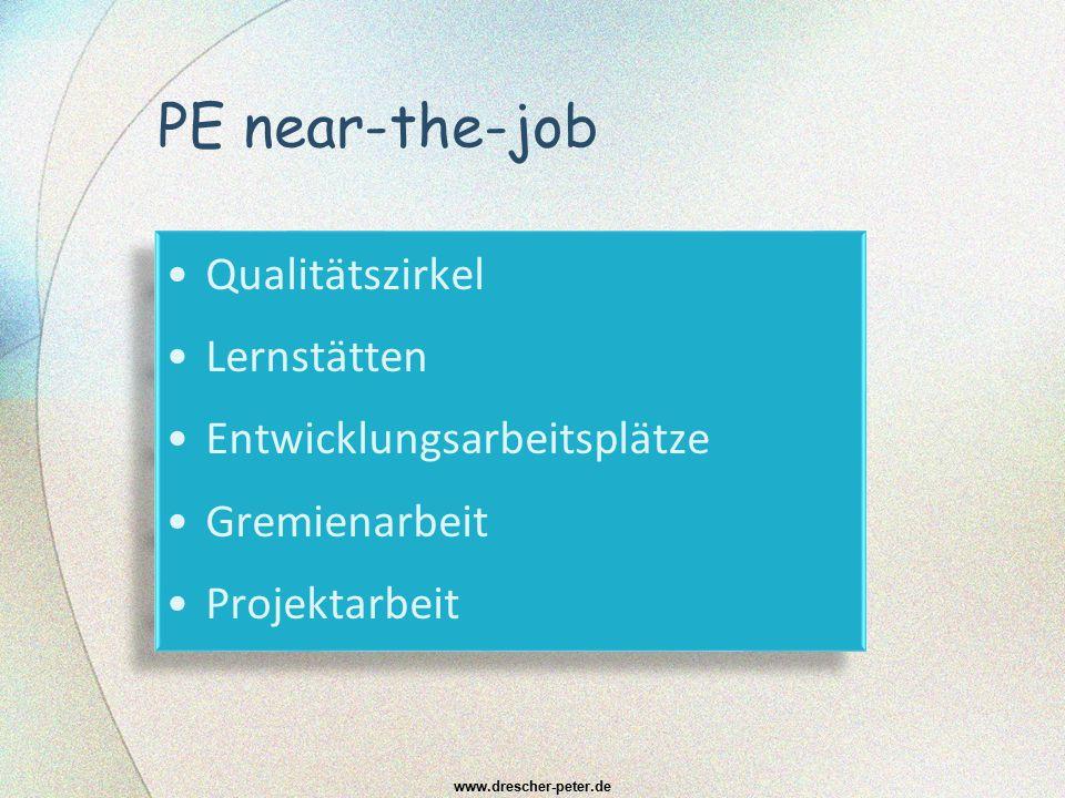 PE near-the-job Qualitätszirkel Lernstätten Entwicklungsarbeitsplätze