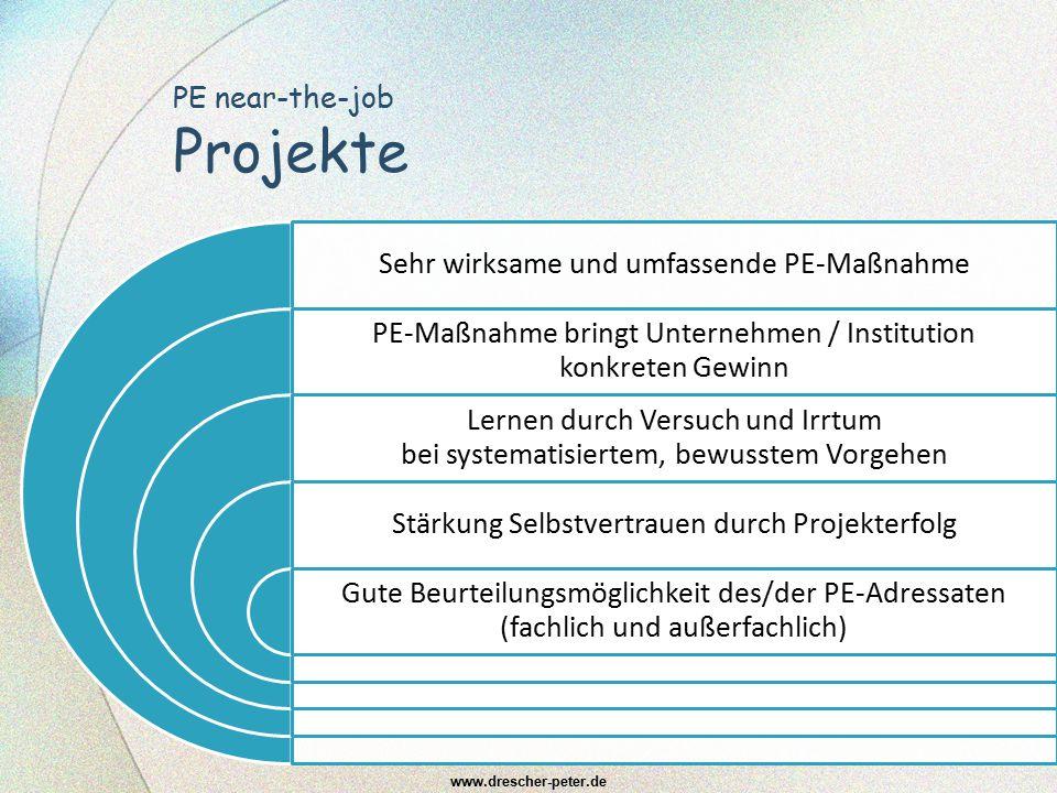 PE near-the-job Projekte
