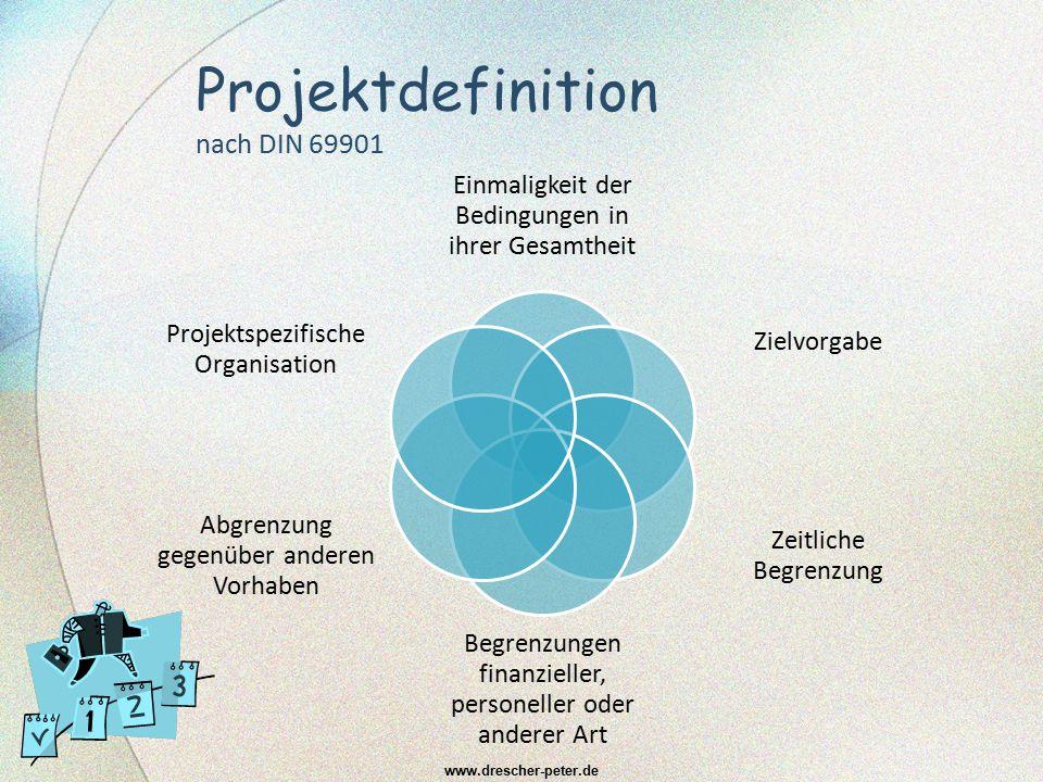 Projektdefinition nach DIN 69901