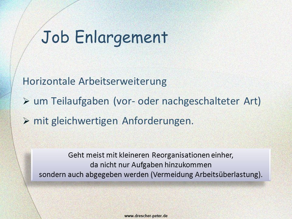 Job Enlargement Horizontale Arbeitserweiterung