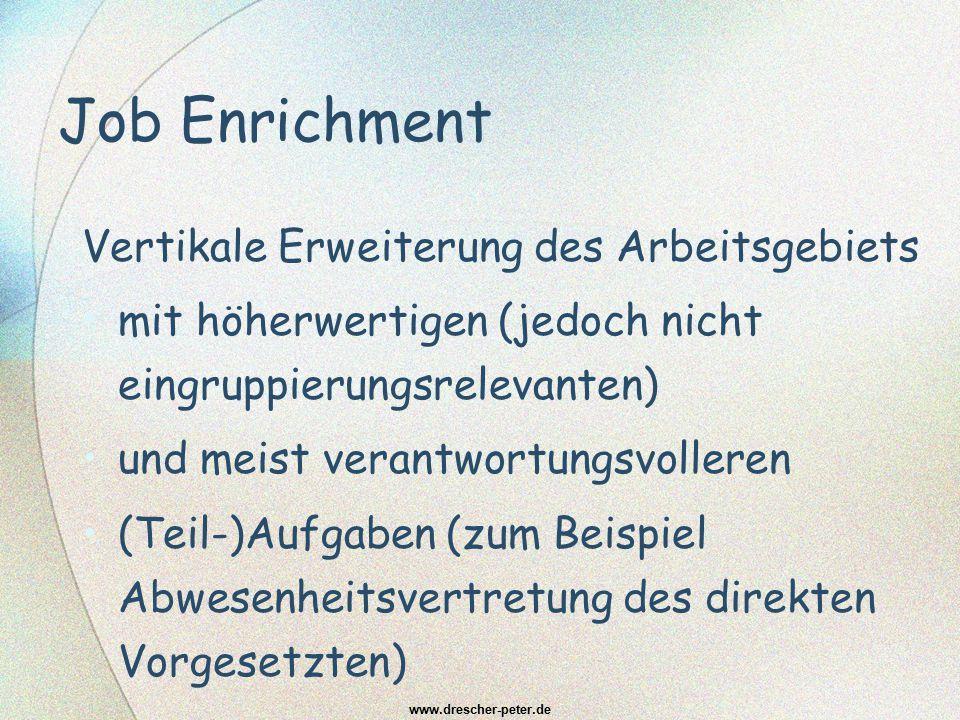 Job Enrichment Vertikale Erweiterung des Arbeitsgebiets
