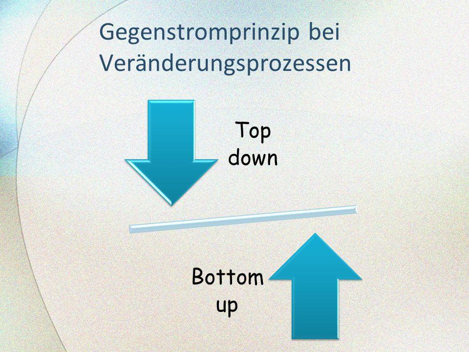 Gegenstromprinzip bei Veränderungsprozessen