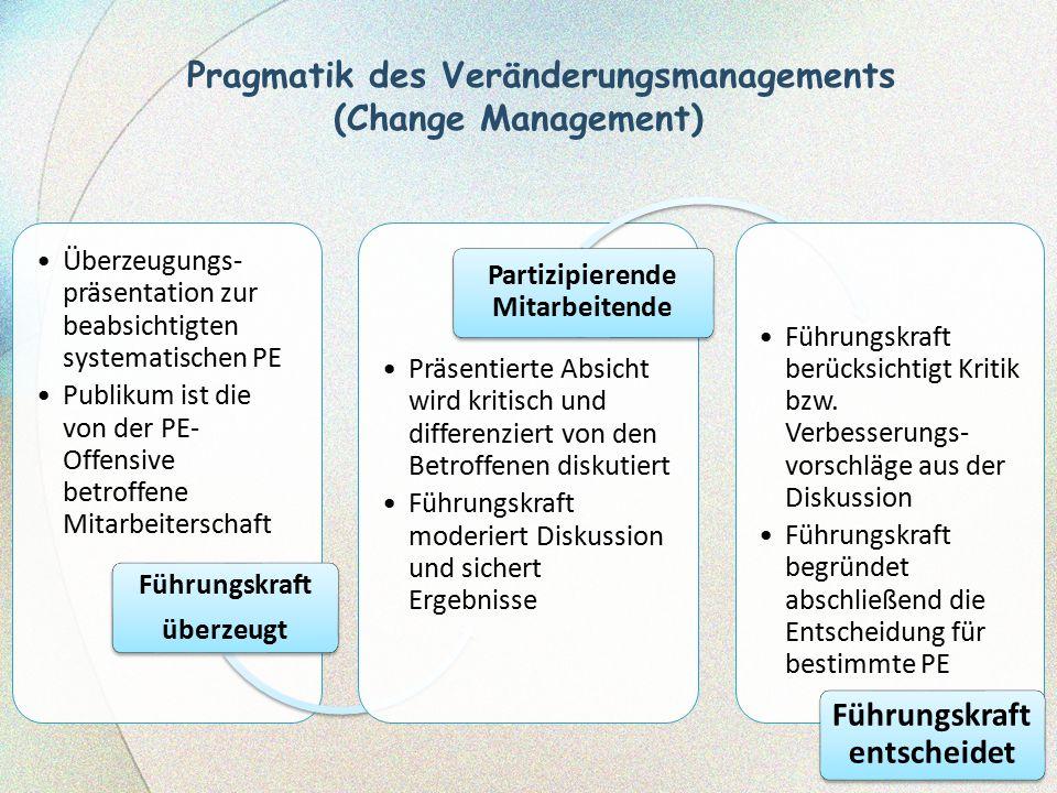 Pragmatik des Veränderungsmanagements (Change Management)