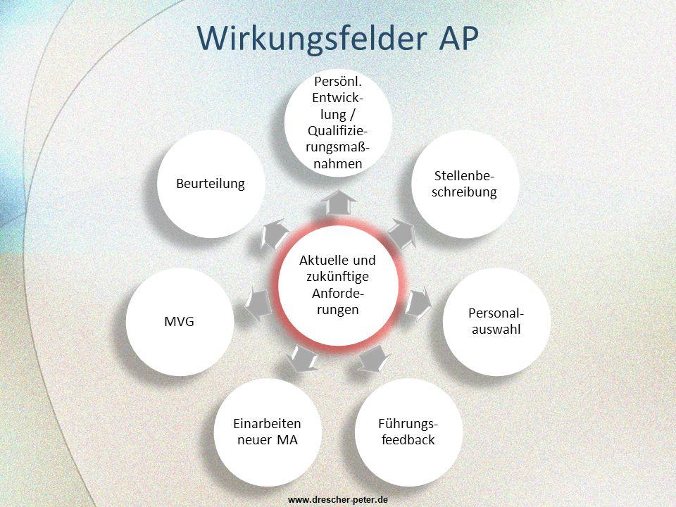 Wirkungsfelder AP Aktuelle und zukünftige Anforde-rungen