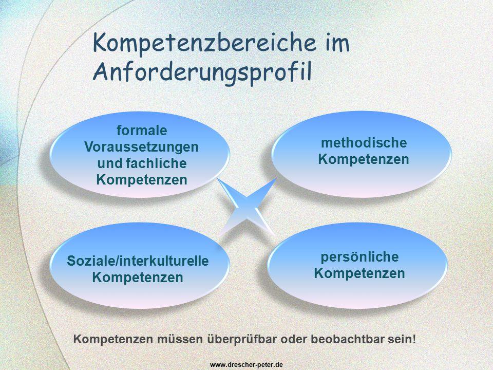 Kompetenzbereiche im Anforderungsprofil