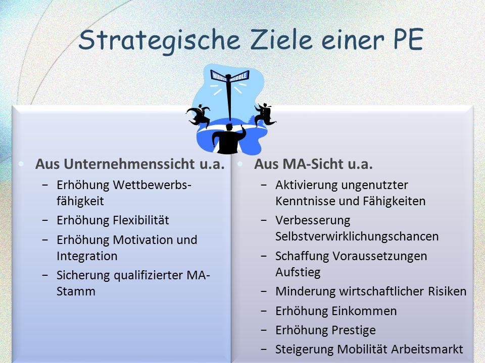 Strategische Ziele einer PE