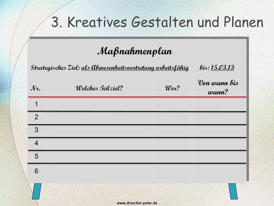 3. Kreatives Gestalten und Planen