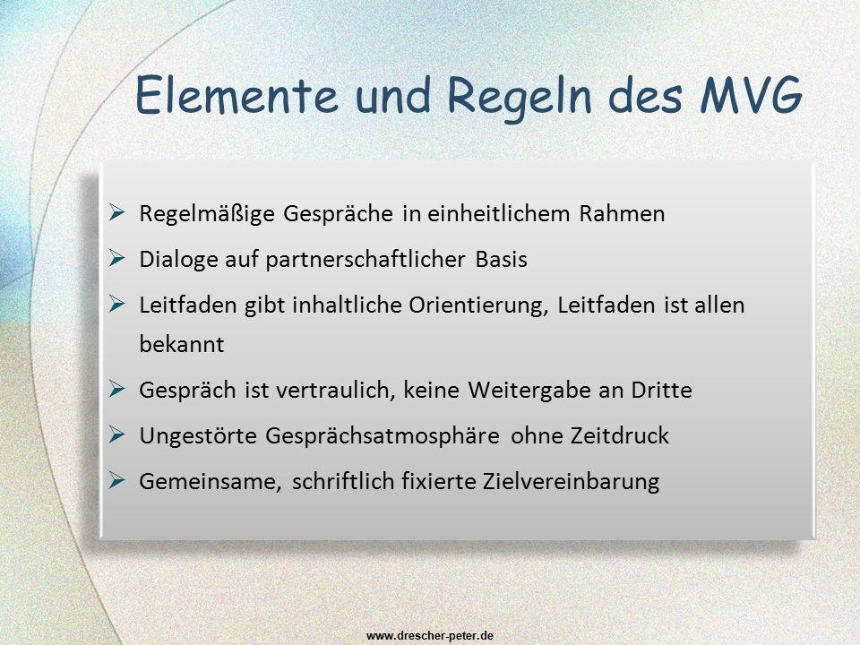 Elemente und Regeln des MVG