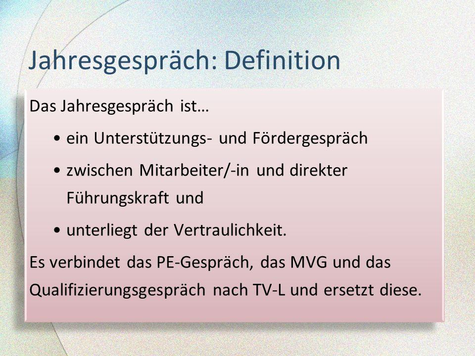 Jahresgespräch: Definition