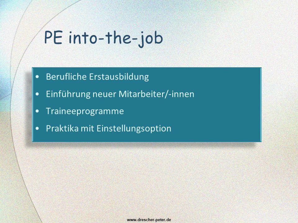 PE into-the-job Berufliche Erstausbildung