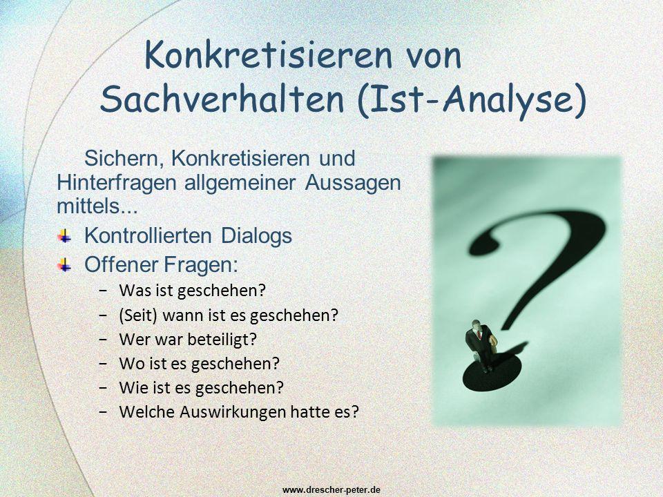 Konkretisieren von Sachverhalten (Ist-Analyse)