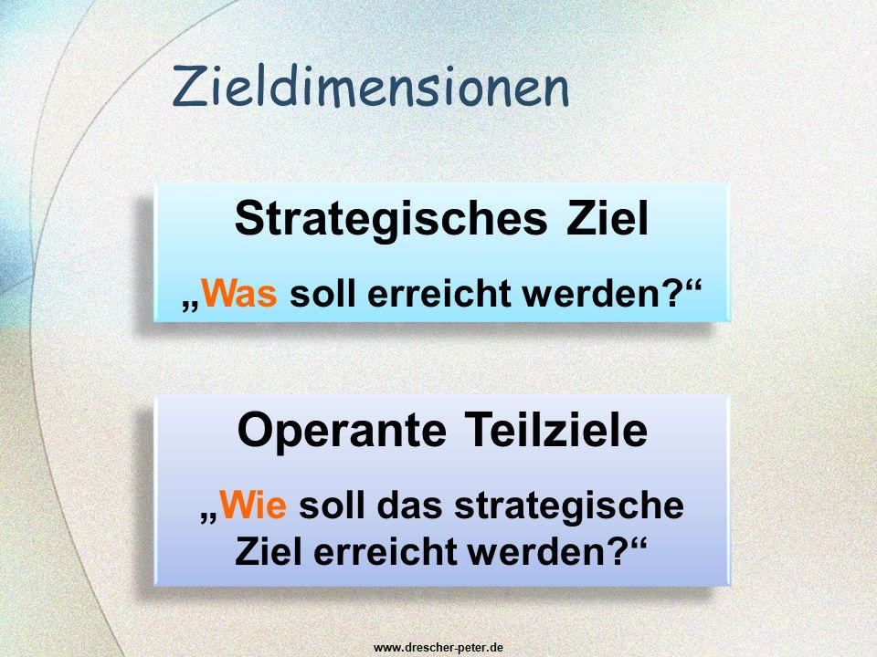 Zieldimensionen Strategisches Ziel Operante Teilziele