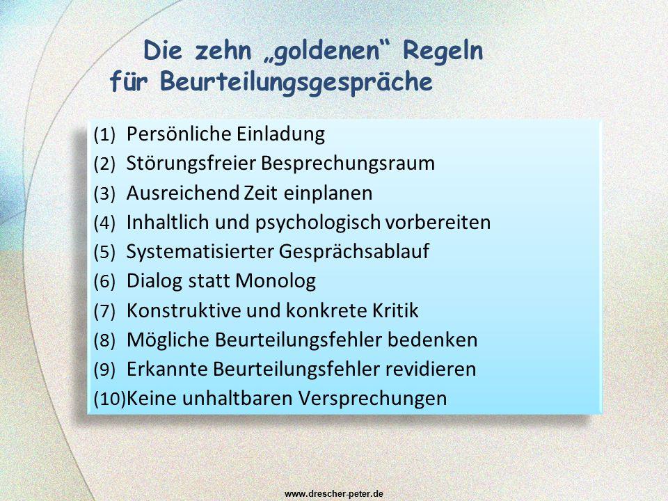 """Die zehn """"goldenen Regeln für Beurteilungsgespräche"""
