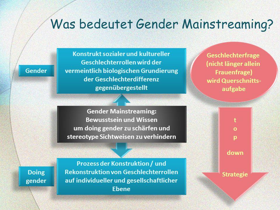 Was bedeutet Gender Mainstreaming