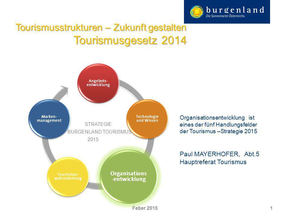 Tourismusstrukturen – Zukunft gestalten Tourismusgesetz 2014