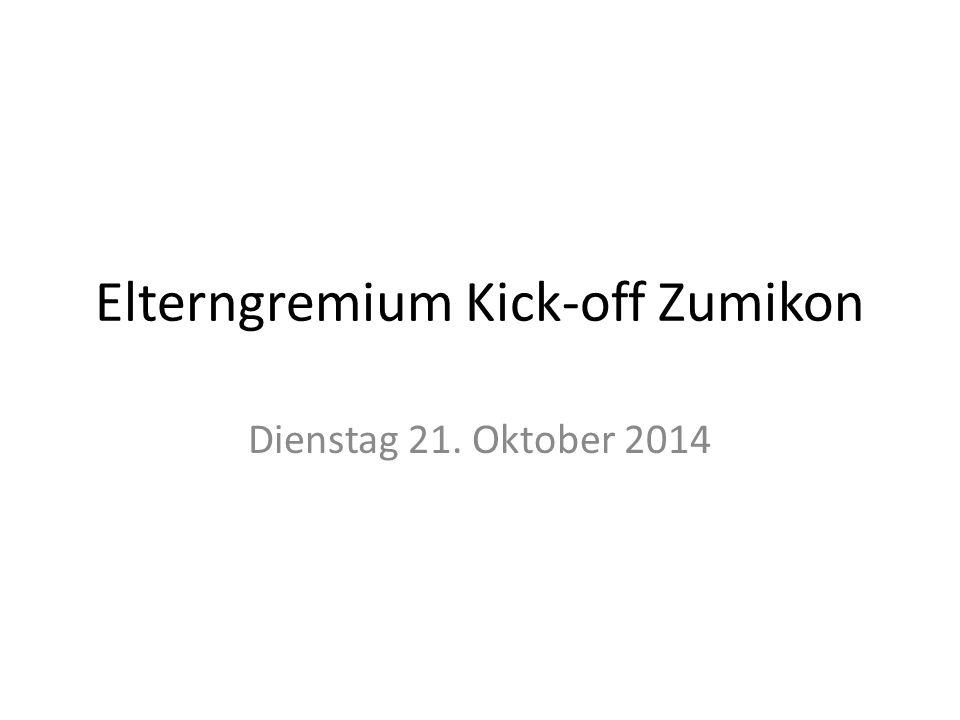 Elterngremium Kick-off Zumikon